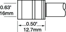 PTTC-605 - Csipesz pákahegy (pár)