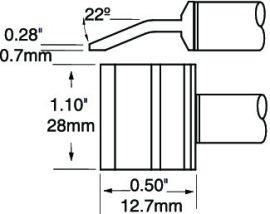PTTC-607 - Csipesz pákahegy (pár)