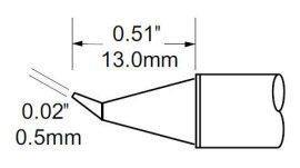 SCV-CNB05 - Forrasztó pákacsúcs