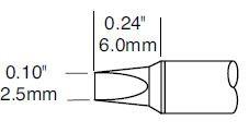 STTC-836P - Forrasztó pákahegy