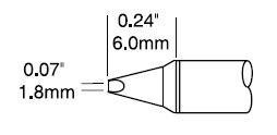 STTC-837P - Forrasztó pákahegy