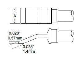 TFP-BLH60 - Csipesz pákahegy (pár)