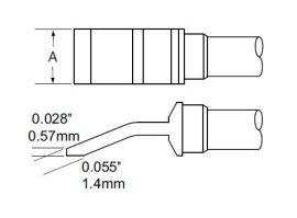 TFP-BLH70 - Csipesz pákahegy (pár)